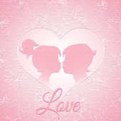 Delicate pink love card — Stockvektor