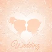 Delicate wedding card — Stockvektor