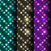 Set of 3 seamless disco — Stockvektor