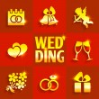 Wedding flat icons — Stock Vector #58252023