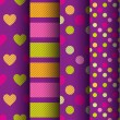 Seamless patterns with hearts — Stock Vector #58252403