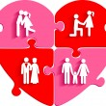 Love jigsaw puzzle — Stock Vector #58253283