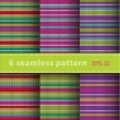 Seamless knitted  backgrounds — Stock Vector #58253439