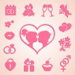 Wedding icons set — Stock Vector #58253615