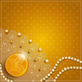 Gold background with lace — Stock Vector
