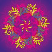 花の抽象のサークレット — ストックベクタ