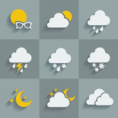Icons of weather — Vettoriale Stock