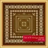 Vintage decor elements — Vector de stock