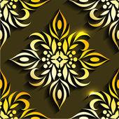 Textur med blommig ornament — Stockvektor