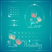 Elements for wedding cards — Stock Vector