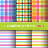 Checkered seamless patterns — Stock Vector
