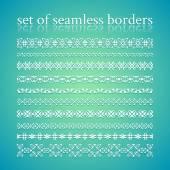 Seamless vintage borders — Stock Vector
