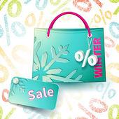 Blue shopping bag — Stock Vector
