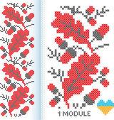 Ukrainian cross-stitch — Stock Vector