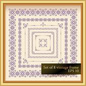 Vintage decor elements — Stock Vector