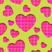 Hearts  seamless texture — Stock Vector