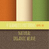 Texture of natural organic fabrics — Cтоковый вектор