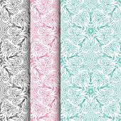 Seamless lace floral patterns — Stock Vector