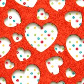 Seamless texture with hearts — Stock Vector