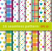 Colorful seamless patterns — Stock Vector