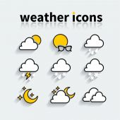 Icons of weather — Stock Vector