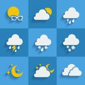 Set of weather  icons — Vettoriale Stock