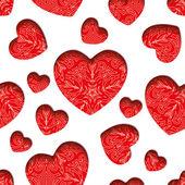 Hearts seamless texture — Vettoriale Stock