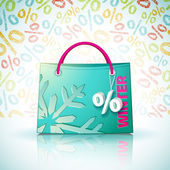 Bright shopping bag — Vettoriale Stock