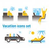 Icons about vacation — Stock Vector
