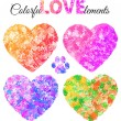 Elements and watercolor hearts — Stockvektor  #59891819