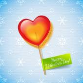 Holiday heart lollipop — Stock Vector