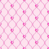 Beads and hearts background — Vector de stock
