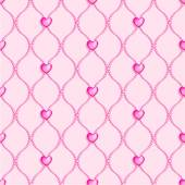 Beads and hearts background — Stock vektor