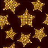Seamless pattern with gold stars — Stock Vector