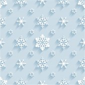 Pattern with snowflakes — Vector de stock