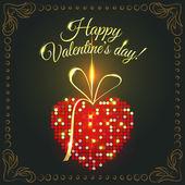 Festive Valentine's Day card — Stock Vector
