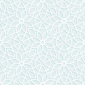 Convex white lace floral pattern — Stock Vector
