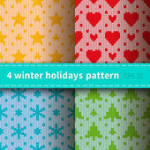 Knitted patterns for holidays — Stock Vector