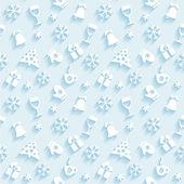 Christmas symbols background — Stock Vector