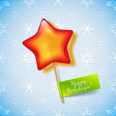 Holiday star lollipop — Stock Vector