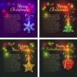 Christmas backgrounds set — Stock Vector #61184463