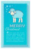 Christmas sheep card — Stock Vector