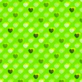 Hearts knitted background — Stock Vector
