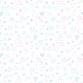 Valentine pattern — Stockvektor