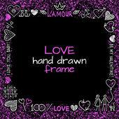 Love frame — Stock Vector