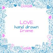 Love frame — Stock Vector