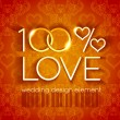 100 percent love wedding design — Stock Vector #62081823