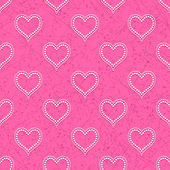 Pink seamless background with hearts — Stock Vector
