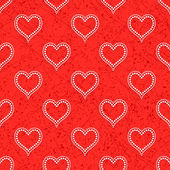 Red seamless background with hearts — Stock Vector