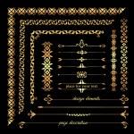 Set of calligraphic design elements — Stock Vector #67239885